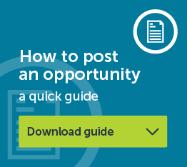 How to post an opportunity - download a quick guide